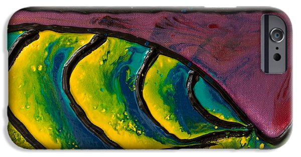 Nature Abstract iPhone Cases - Small Wave Pour One iPhone Case by Grant Fraker