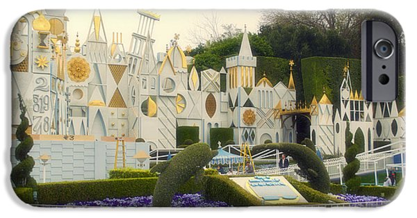 Toy Shop Digital iPhone Cases - Small World Fantasyland Disneyland 01 iPhone Case by Thomas Woolworth