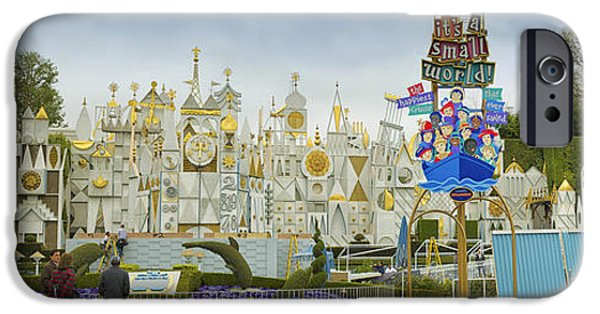 Toy Store iPhone Cases - Small World Fantasyland Disneyland Panorama iPhone Case by Thomas Woolworth