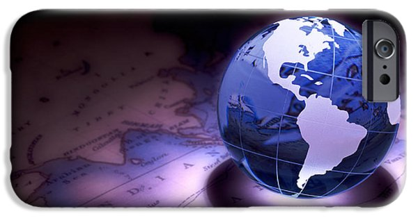 Map iPhone Cases - Small World Still Life iPhone Case by Tom Mc Nemar