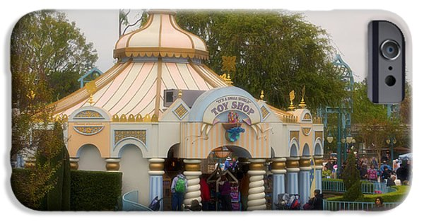 Toy Shop Digital iPhone Cases - Small World Toy Shop Fantasyland Disneyland iPhone Case by Thomas Woolworth