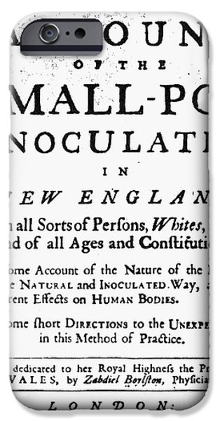 Account iPhone Cases - Smallpox: Title Page, 1726 iPhone Case by Granger
