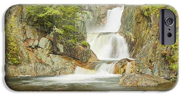 Franklin Photographs iPhone Cases - Smalls Falls In Western Maine Panorama iPhone Case by Keith Webber Jr