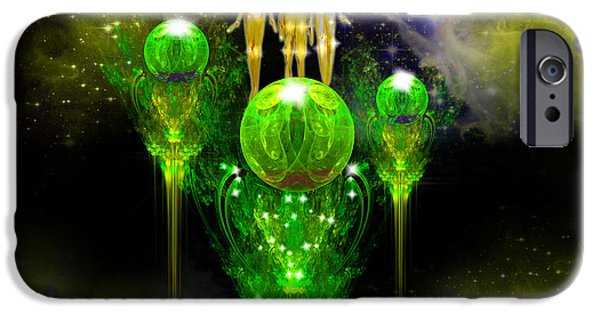 Flower Of Life iPhone Cases - Smaragdine City iPhone Case by Alexa Szlavics