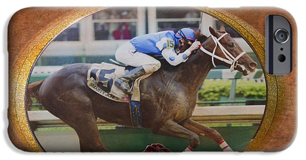 Kentucky Derby Photographs iPhone Cases - Smarty Jones iPhone Case by Betty LaRue