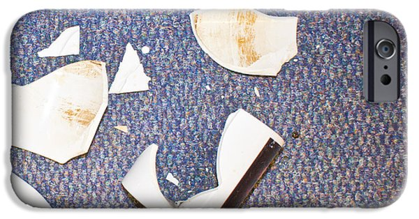 Workplace iPhone Cases - Smashed cup iPhone Case by Tom Gowanlock