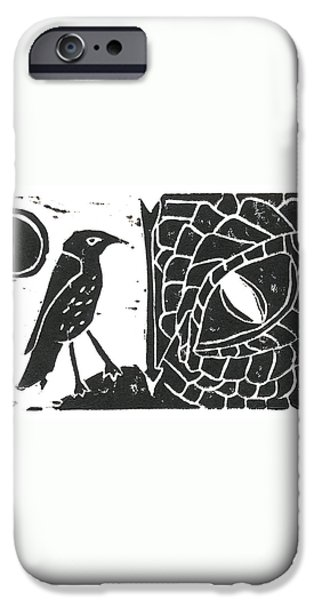 Smaug and the Thrush iPhone Case by Lynn-Marie Gildersleeve