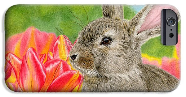 Sarah Batalka Drawings iPhone Cases - Smell The Flowers iPhone Case by Sarah Batalka