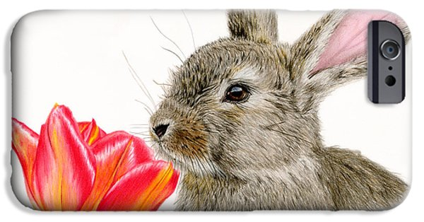 Sarah Batalka Drawings iPhone Cases - Smells Like Spring iPhone Case by Sarah Batalka