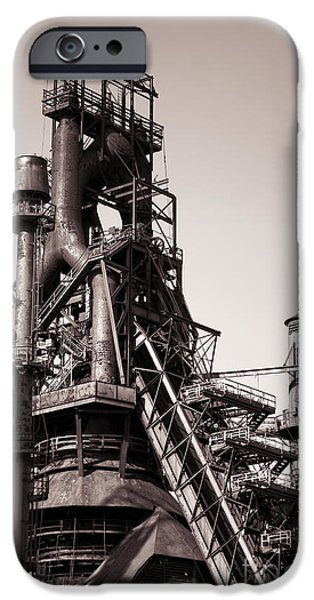 Industry iPhone Cases - Smelting Furnace iPhone Case by Olivier Le Queinec