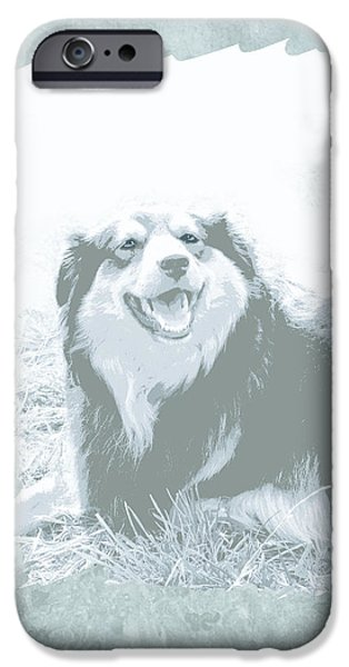 Dog Photography iPhone Cases - Smile iPhone Case by Ann Powell