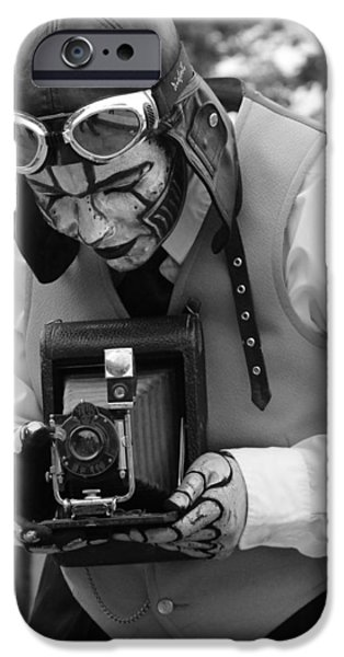 Statue Portrait iPhone Cases - Smile For The Camera iPhone Case by Kym Backland