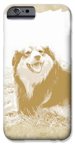 Dog Photography iPhone Cases - Smile II iPhone Case by Ann Powell