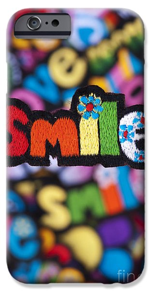 Spectrum iPhone Cases - Smile iPhone Case by Tim Gainey