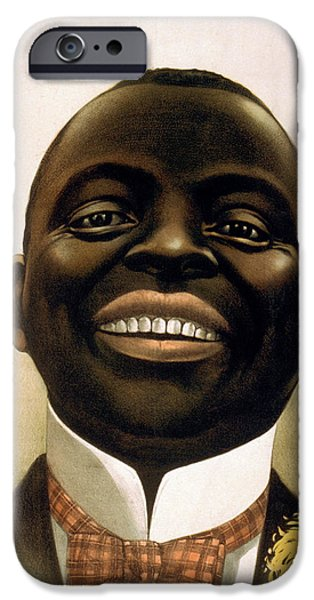 Lips iPhone Cases - Smiling African American circa 1900 iPhone Case by Aged Pixel