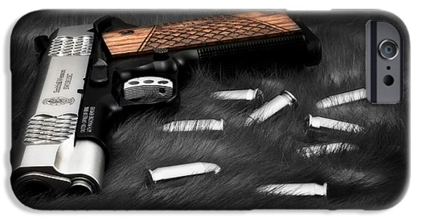 Self Photographs iPhone Cases - Smith and Wesson 1911SC Still Life iPhone Case by Tom Mc Nemar