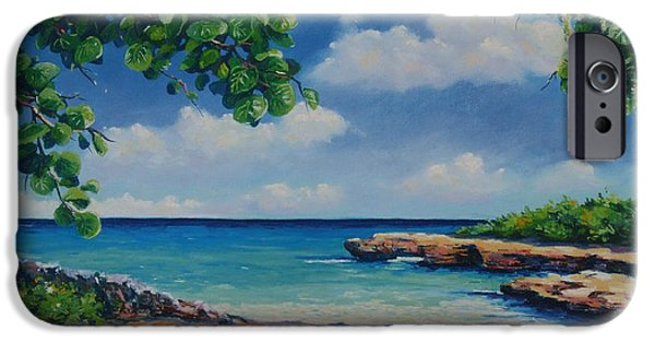 Ocean Pastels iPhone Cases - Smith Cove 16x23 iPhone Case by John Clark