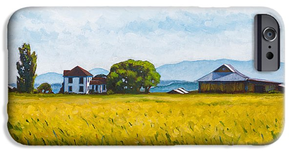 Farm iPhone Cases - Smith Farm iPhone Case by Stacey Neumiller