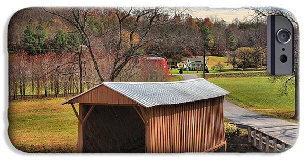 Recently Sold -  - Covered Bridge iPhone Cases - Smith River Covered Bridge iPhone Case by Adam Jewell