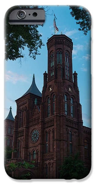 Smithsonian iPhone Cases - Smithsonian Castle Dawn iPhone Case by Steve Gadomski