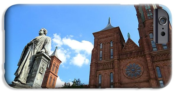 Smithsonian iPhone Cases - Smithsonian Castle iPhone Case by De Ann  Troen