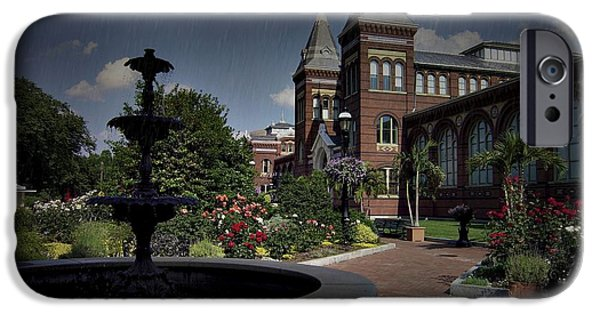 Smithsonian iPhone Cases - Smithsonian Castle Gardens  iPhone Case by Gary Conner