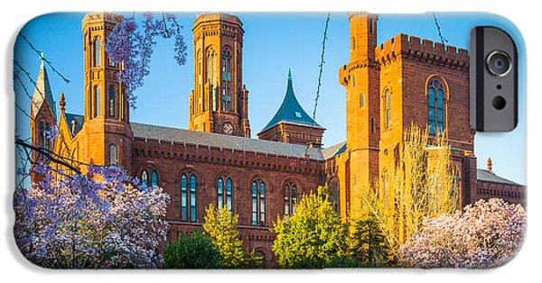 District Columbia Photographs iPhone Cases - Smithsonian Castle iPhone Case by Inge Johnsson