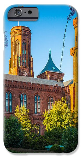 Smithsonian Castle iPhone Case by Inge Johnsson