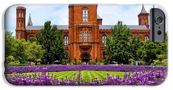 Smithsonian Photographs iPhone Cases - Smithsonian Castle iPhone Case by Mitch Cat