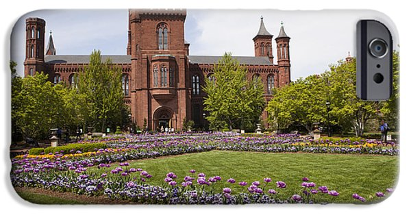 Smithsonian iPhone Cases - Smithsonian Castle No1 iPhone Case by B Christopher