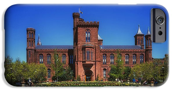 Smithsonian iPhone Cases - Smithsonian Castle - Washington D C iPhone Case by Mountain Dreams