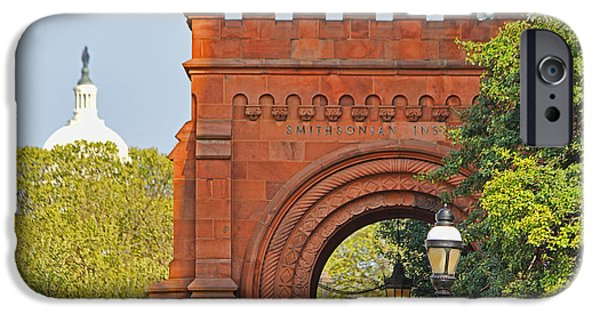 Smithsonian iPhone Cases - Smithsonian Entrance 1136 iPhone Case by Jack Schultz