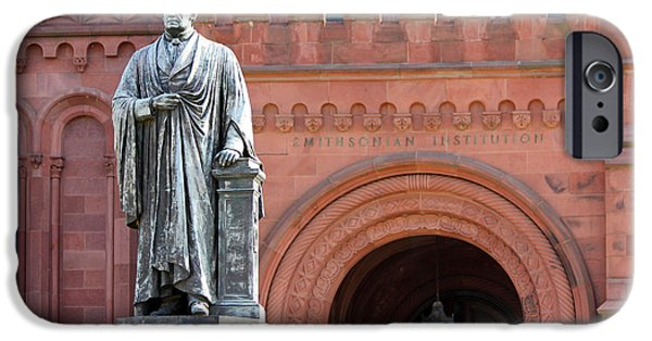 Smithsonian iPhone Cases - Smithsonian Statue 1132 iPhone Case by Jack Schultz