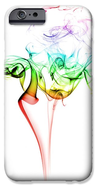 Smoke iPhone Cases - Smoke and Colours iPhone Case by Samuel Whitton