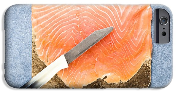 Posh iPhone Cases - Smoked salmon iPhone Case by Tom Gowanlock