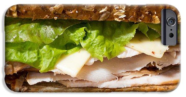 Deli iPhone Cases - Smoked Turkey Sandwich iPhone Case by Edward Fielding