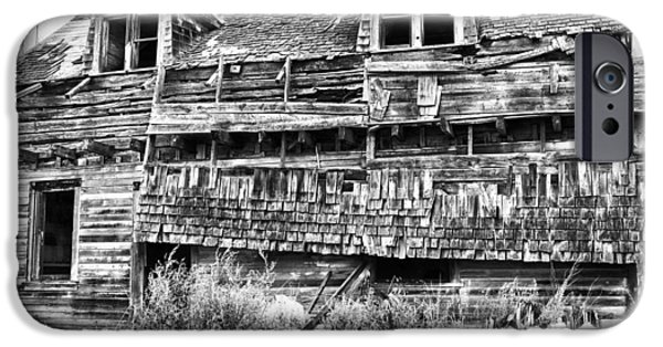 Old Barn iPhone Cases - Smokey Lake Resort iPhone Case by Jerry Cordeiro