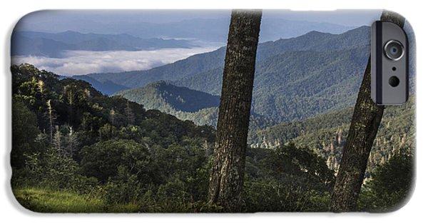 Smokey Mountains iPhone Cases - Smokey Mountain View iPhone Case by John McGraw