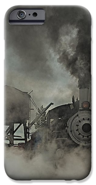 Machinery iPhone Cases - Smokin Engine 353 iPhone Case by Paul Freidlund