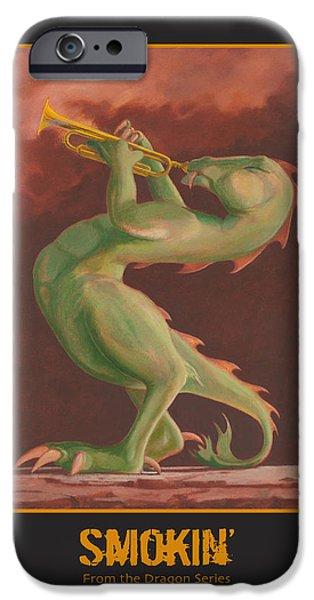 Recently Sold -  - Leonard Filgate iPhone Cases - Smokin iPhone Case by Leonard Filgate