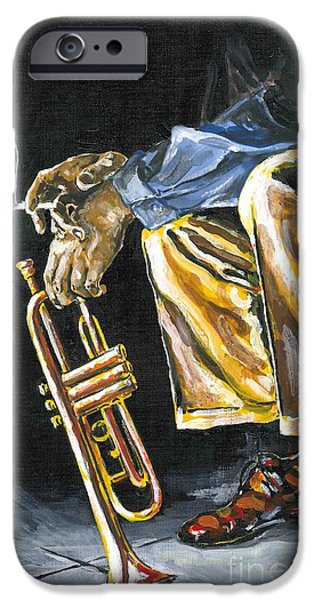 Thinking iPhone Cases - Smokin Trumpet iPhone Case by Robin  Pelton