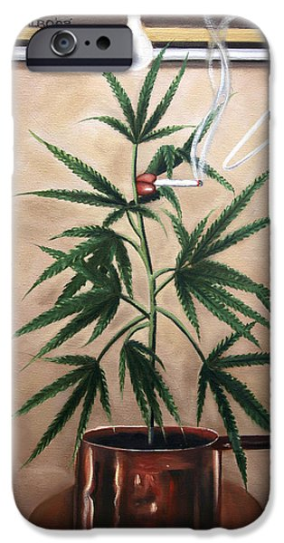 Joints iPhone Cases - Smoking Section iPhone Case by Anthony Falbo