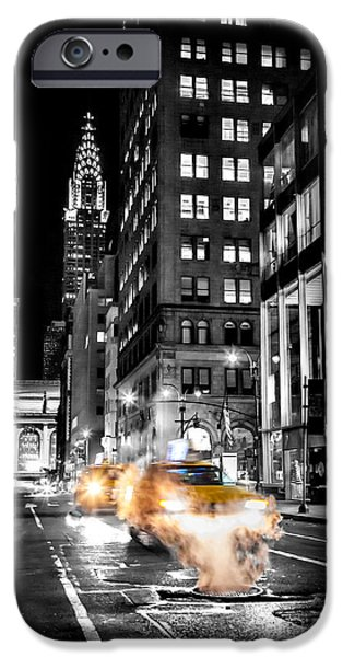 Smoking iPhone Cases - Smoking Streets Of New York  iPhone Case by Az Jackson