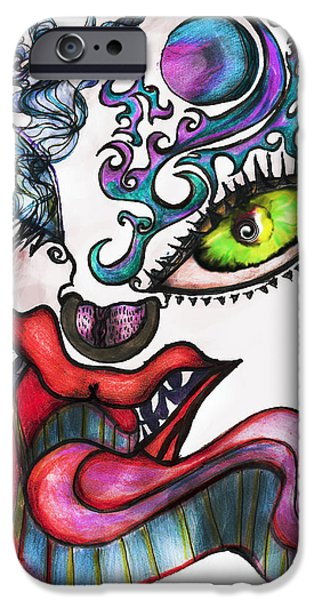 Lips iPhone Cases - Smoking iPhone Case by Tiffany Selig
