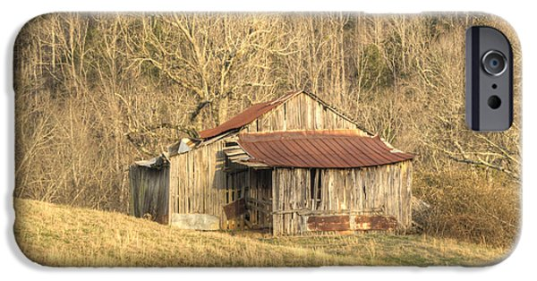 Tennessee Hay Bales iPhone Cases - Smoky Mountain Barn 11 iPhone Case by Douglas Barnett