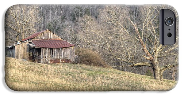 Tennessee Hay Bales iPhone Cases - Smoky Mountain Barn 4 iPhone Case by Douglas Barnett