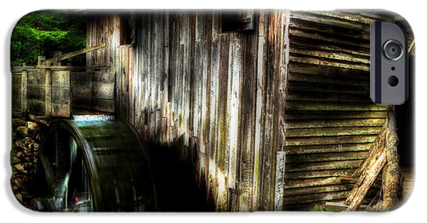 Grist Mill iPhone Cases - Smoky Mountain Mill iPhone Case by Michael Eingle