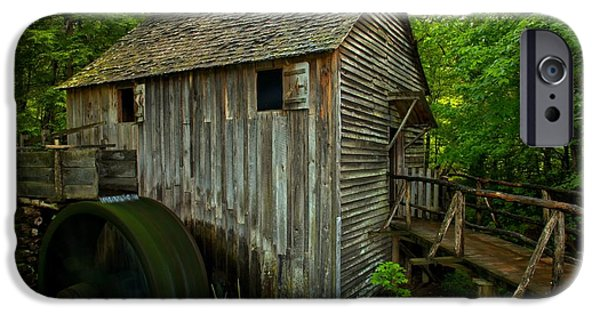 Grist Mill iPhone Cases - Smoky Mountains Grist Mill iPhone Case by Adam Jewell