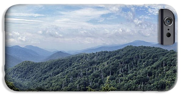 July iPhone Cases - Smoky Mountains Vista iPhone Case by Cricket Hackmann