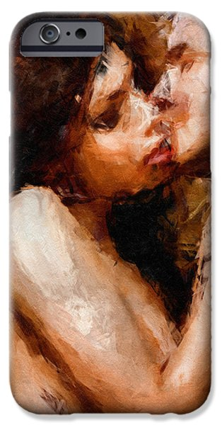 Beloved iPhone Cases - Smooch - Abstract Realism iPhone Case by Georgiana Romanovna